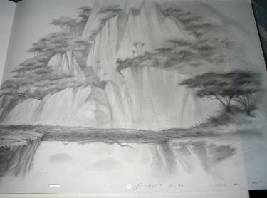 LKG1780 This Set Of Pencil Drawings Is From The Lion King II